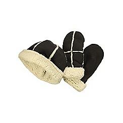 Regatta - Brown / vanilla cozy hat & mitts set