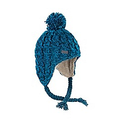 Regatta - Teal Whirlwind knitted hat
