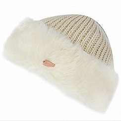Regatta - Off white 'Ludz' faux fur trim hat