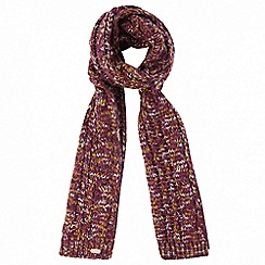 Regatta - Purple 'Frosty' knit scarf