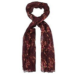 Regatta - Maroon 'Peggie' print scarf