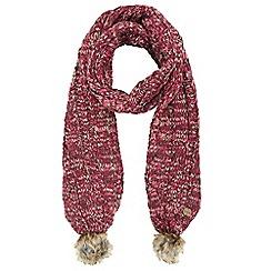 Regatta - Maroon 'Frosty' knit scarf