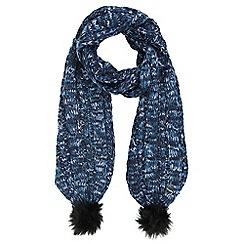 Regatta - Blue 'Frosty' knit scarf