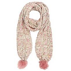 Regatta - Cream 'Frosty' knit scarf