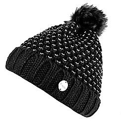 Regatta - Black 'Lovella' bobble hat