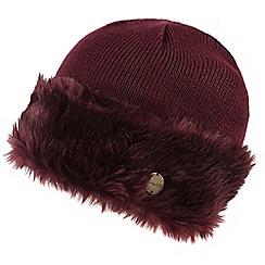 Regatta - Maroon 'Luz' knit hat