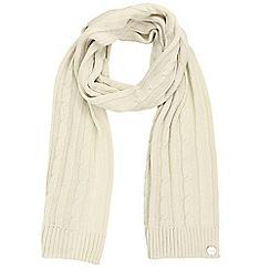 Regatta - Cream 'Multimix' knit scarf