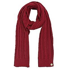 Regatta - Red 'Multimix' knit scarf