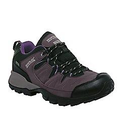 Regatta - Black / purple holcombe ladies walking shoe