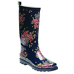 Regatta - Navy lady fairweather wellington boots