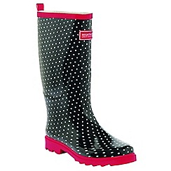 Regatta - Black dotty fairweather ladies welly