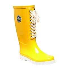 Regatta - Yellow 'lady bayeux' wellington boots