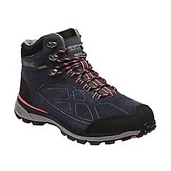 Regatta - Blue 'lady samaris' suede walking boots