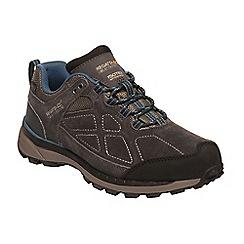 Regatta - Dark grey 'lady samariis' suede walking shoes