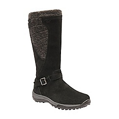 Regatta - Black 'lady argyle' waterproof boots