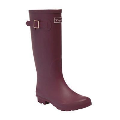 Regatta - Maroon 'lady fairweather' wellington boots