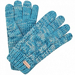 Regatta - Blue 'Frosty' knit gloves