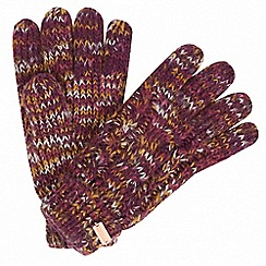 Regatta - Purple 'Frosty' knit gloves