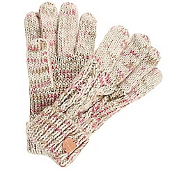 Regatta - Cream 'Frosty' knit gloves