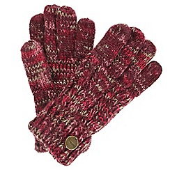 Regatta - Maroon 'Frosty' knit gloves