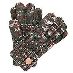 Regatta - Green 'Frosty' knit gloves