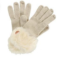 Regatta - Cream 'Luz' knit gloves