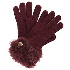 Regatta - Burgundy 'Luz' knit gloves