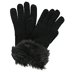Regatta - Black 'Luz' knit gloves