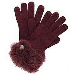 Regatta - Burgundy 'Luz' knit gloves