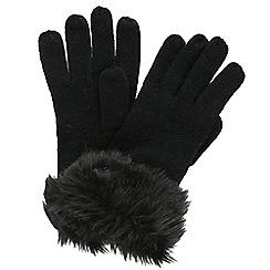 Regatta - Black 'Luz' knit gloves