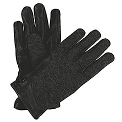 Regatta - Black 'Gelsey' leather gloves