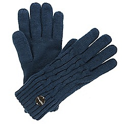 Regatta - Blue 'Multimix' knit gloves