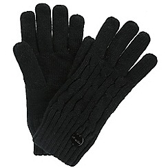 Regatta - Black 'Multimix' knit gloves