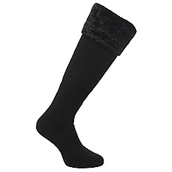 Regatta - Black fur collar sock