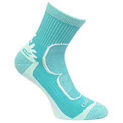 Regatta - Blue & brown 'Active' pack of two socks