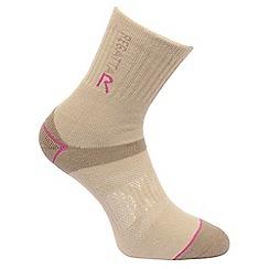 Regatta - Cream 'blister protection' socks