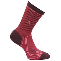 Regatta - Purple womens treck & trail socks