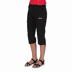 Regatta - Black xert stretch capri trousers