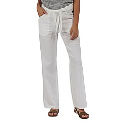 Regatta - White 'Quinetta' cotton trousers