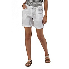 Regatta - White 'Samarah' cotton shorts