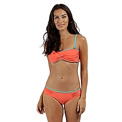 Regatta - peach 'Aceana' bikini bandeau top