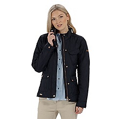 Regatta - Blue 'Camryn' quilted showerproof jacket