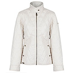 Regatta - Off white 'Camryn' quilted showerproof jacket