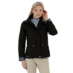 Regatta - Black 'Camryn' quilted showerproof jacket