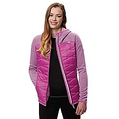 Regatta - Purple 'Andreson' hybrid hooded jacket