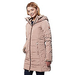 Regatta - Brown 'Pernella' quilted hooded coat