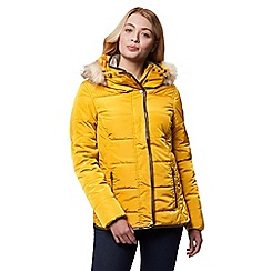 Regatta - Yellow 'Winika' insulated hooded jacket