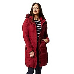 Regatta Red Fermina Quilted Hooded Parka