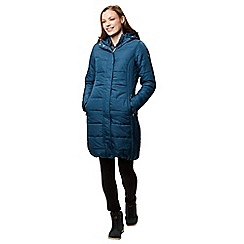 Regatta - Blue 'Fermina' quilted hooded parka jacket