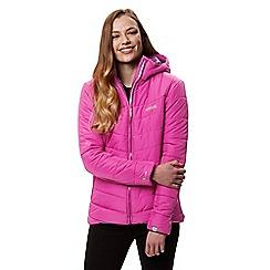 Regatta - Purple 'Nevado' quilted hooded jacket
